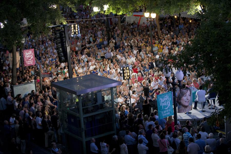 Més de 3.000 persones es van aplegar a l'acte de campanya de Junts pel Sí