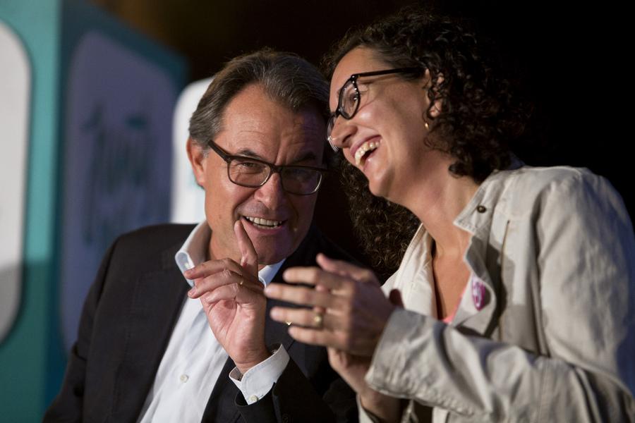 Artur Mas i Marta Rovira, en un moment de les intervencions