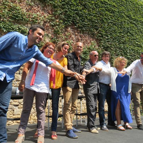 Lluís Llach debuta como candidato de Junts pel Sí en Girona