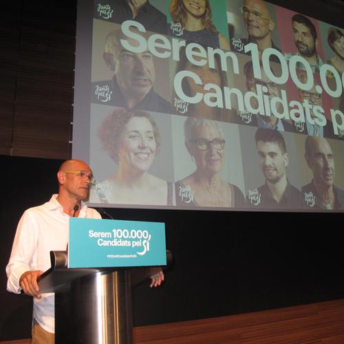Junts pel Sí es proposa arribar als 100.000 candidats