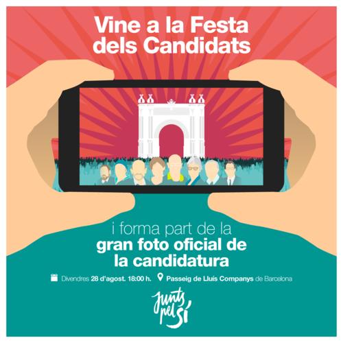 Més de 50.000 persones estan convocades el 28 d'agost a la Festa dels Candidats, el primer gran acte de la campanya