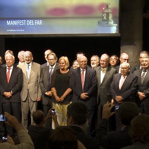 Els empresaris catalans omplen La Pedrera per refermar el seu suport al Parlament