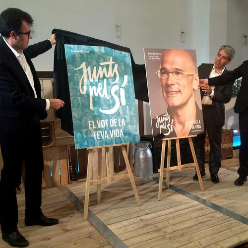 Junts pel Sí quiere llegar a todos con el lema 'El voto de tu vida'