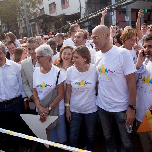 Raül Romeva agradece el esfuerzo de los candidatos durante la Diada y les anima a seguir ayudando hasta el 27S