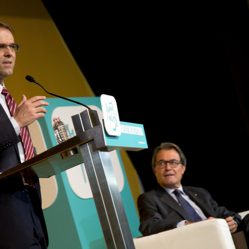 """Oriol Amat asegura en Badalona que """"las pensiones en Catalunya están hoy más que garantizadas y pueden ser mejores en el futuro"""""""