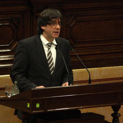 """Carles Puigdemont: """"Ens hi deixarem la pell amb modèstia i autoexigència per culminar amb èxit el procés"""""""