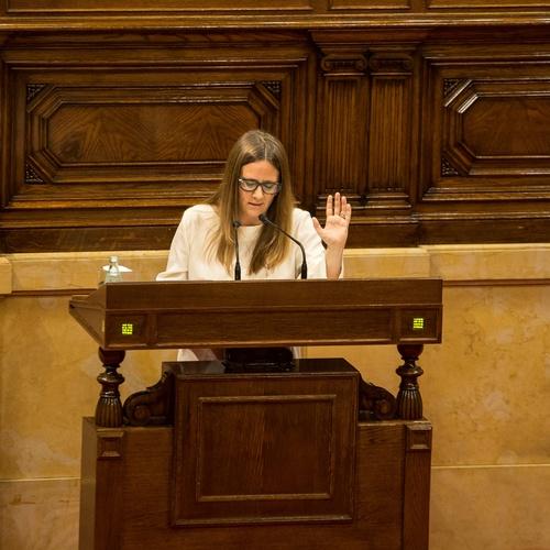 """Anna Figueras : """" Eje social y eje nacional son inseparables, pues sólo disponiendo de todos los recursos que los catalanes generan podremos invertir en la mejora de sus condiciones de vida"""""""