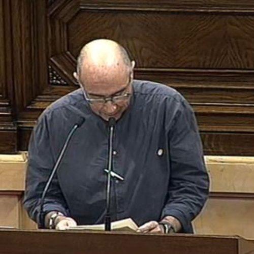 """Lluís Llach: """"Amb aquesta moció confirmem que seguim endavant i que estem compromesos amb el mandat democràtic sorgit de les urnes"""""""