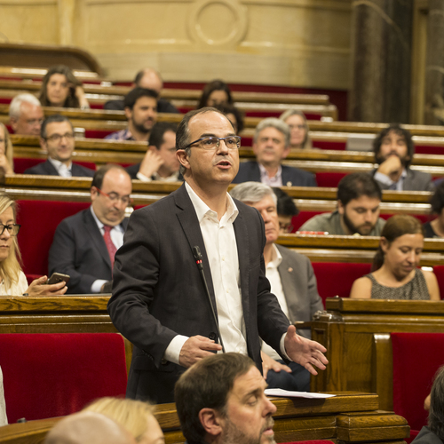 """Turull: """"Estem representant el poble de Catalunya i no admetem cap amenaça pels vots i les opinions que emetem"""""""