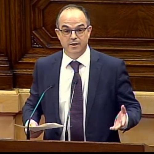 """Jordi Turull: """"No només no hi ha voluntat de dialogar sinó que l'Estat segueix disparant judicialment sobre tot allò que es mou al Parlament"""""""