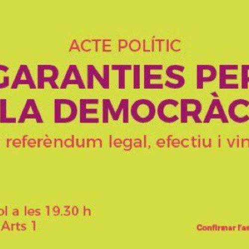 Garanties per a la democràcia: per un referèndum legal, efectiu i vinculant