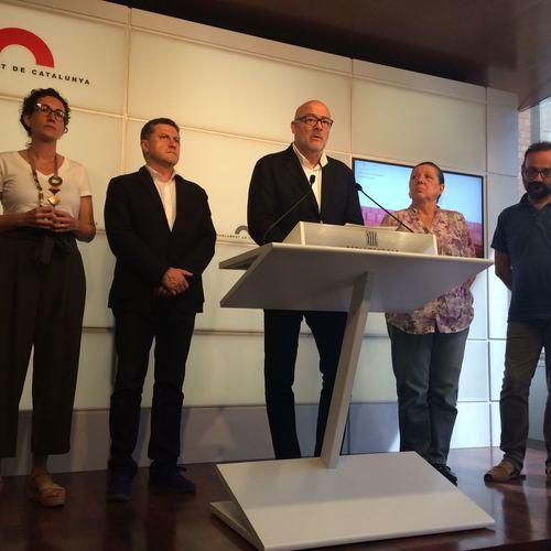 """Corominas: """"Presentem la Llei del Referèndum convençuts i compromesos en tirar-la endavant; la democràcia a Catalunya no l'aturarà ni Rajoy ni el TC"""""""