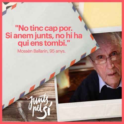 """Josep Maria Ballarín: """"No tinc cap por que si anem junts no hi ha qui ens tombi"""""""