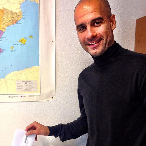 Pep Guardiola ha votado hoy en Múnich