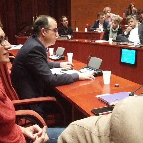 Junts pel Sí encarga a Jordi Turull y Marta Rovira las tareas de gestión y estructuración del grupo parlamentario