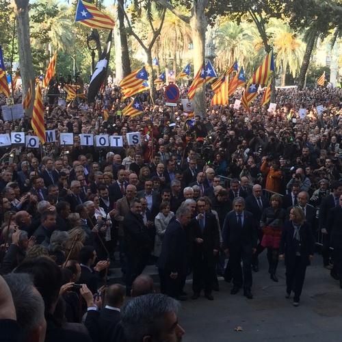 """Raül Romeva: """"Acompañamos el president Mas para reivindicar los derechos, las libertades y la dignidad de un pueblo"""""""