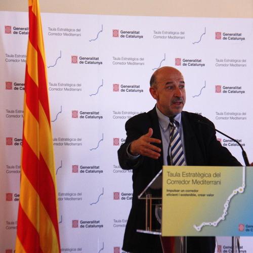 """Germà Bel: """"Tenemos que aprovechar este impulso no solo para hacer más cosas en el Corredor Mediterraneo sinó para hacerlas mejor"""""""
