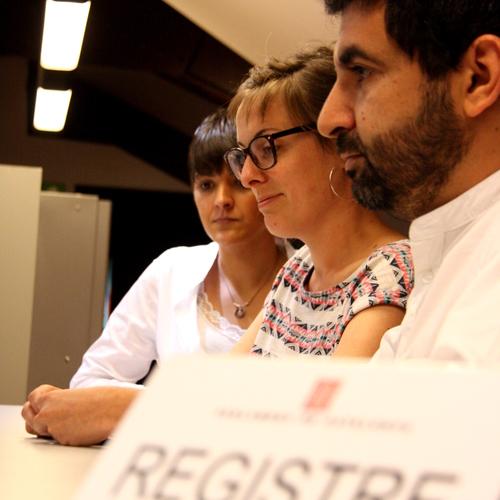 JxSí y la CUP entran en registro la Ley de creación de la Agencia Catalana de Protección Social