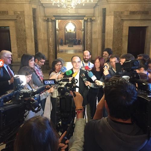 """Turull: """"Alguns han optat per la judicialització i els tribunals; nosaltres hem optat per la política i la democràcia"""""""