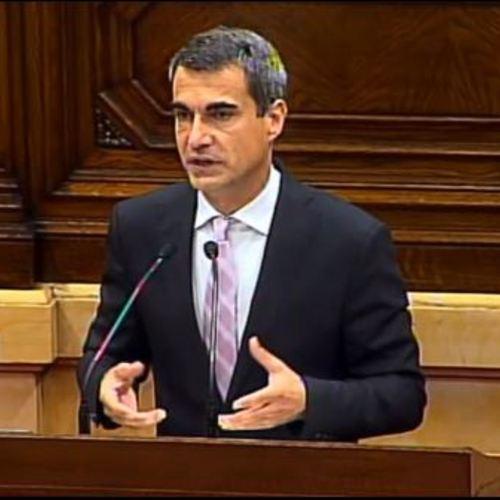 """Joan Ramon Casals: """"L'exigència del traspàs de competències per la gestió de l'aeroport del Prat és una necessitat, no una dèria del procés."""""""